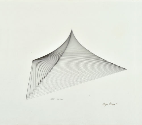 Agnes Denes, Probability Pyramid – Study for Crystal Pyramid, 1976. Private collection, Lund.