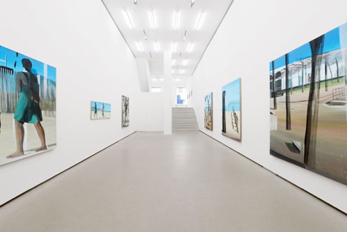 Marc Desgrandchamps. Solitudes, 2014. Installation view. Galerie EIGEN + ART Berlin. Photograph: Uwe Walter, Berlin.