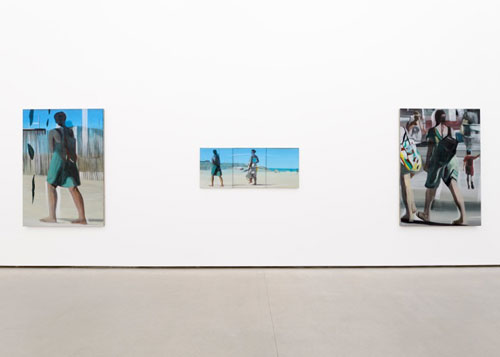 Marc Desgrandchamps. Solitudes, 2014. Installation view (2). Galerie EIGEN + ART Berlin. Photograph: Uwe Walter, Berlin.
