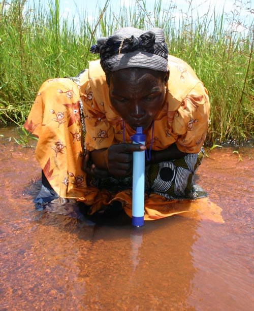 LifeStraw<sup>®</sup>. Designer: Torben Vestergaard Frandsen. Manufacturer: Vestergaard Frandsen, China and Switzerland (current version), 2005. High-impact polystyrene (outer shell), halogen-based resin, anion exchange resin and patented activated carbon (interior). Dimensions: 10 inches x 1 inch. Photo © 2005 Vestergaard Frandsen