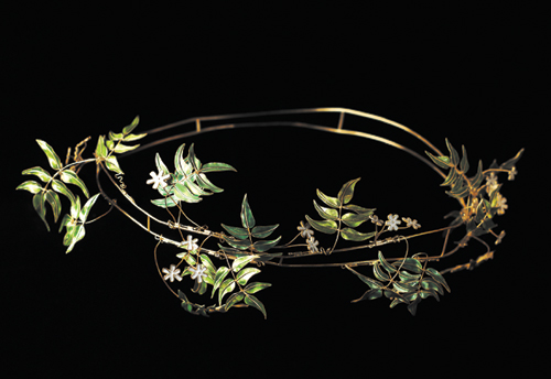 Georgina Follett, <em>Tiara</em>, 2005. Plique a Jour enameling.  Copyright &copy; the artist.