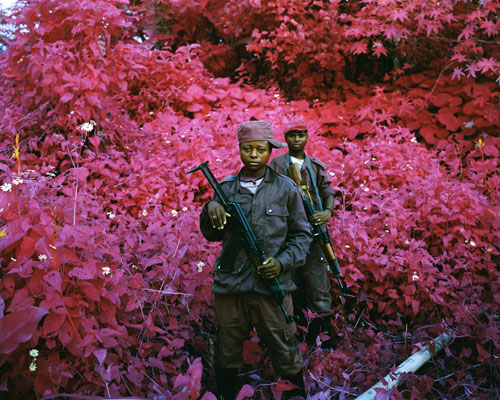 Richard Mosse. Man-Size, North Kivu, eastern Congo, 2011. Digital C print, 72 x 90 in. © Richard Mosse. Courtesy of the artist and Jack Shainman Gallery.