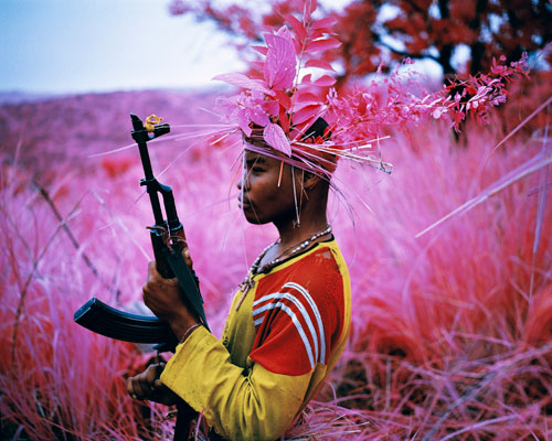 Richard Mosse. Safe From Harm, North Kivu, eastern Congo, 2012. Digital C print, 48 x 60 inches. © Richard Mosse. Courtesy of the artist and Jack Shainman Gallery.