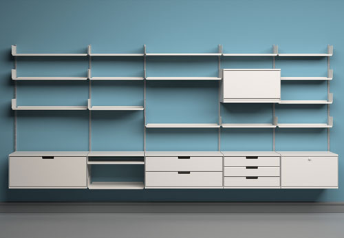 606 Universal Shelving System, 1960. Manufacturer: Vitsœ. Design by Dieter Rams.