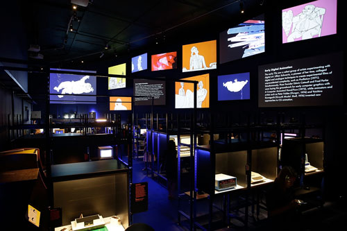 Digital Revolution. Installation view (2), Digital Archaeology section, 