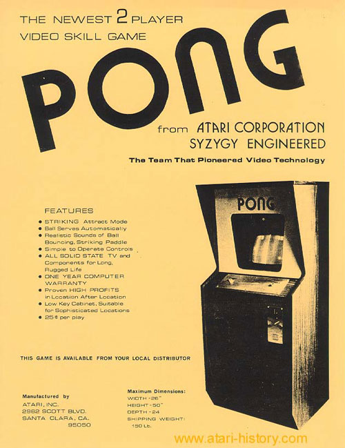 Poster for the original Pong Arcade game.