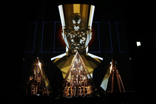Will.i.am. Pyramidi. Installation view, in the Sound & Vision section, Barbican Centre. © Matthew G Lloyd/Getty Images #digitalrevolution.