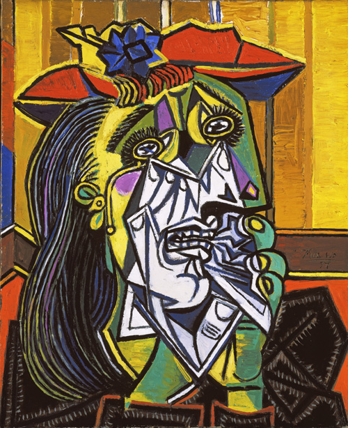 Pablo Picasso (1881–1973). <em>Weeping Woman</em>, 1937.  Oil on canvas, 60.8 x 50 cm. Collection: Tate, London. © Succession Picasso/DACS 2009. Image © Tate, London 2009.