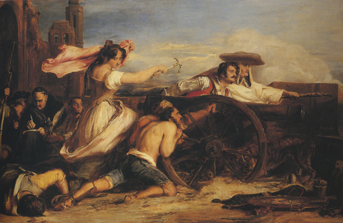 David Wilkie (1785&ndash;1841). <em>The Defence of Saragossa</em>, 1829. Oil on canvas, 94 x 141 cm. The Royal Collection. &copy; 2009, Her Majesty Queen Elizabeth II.