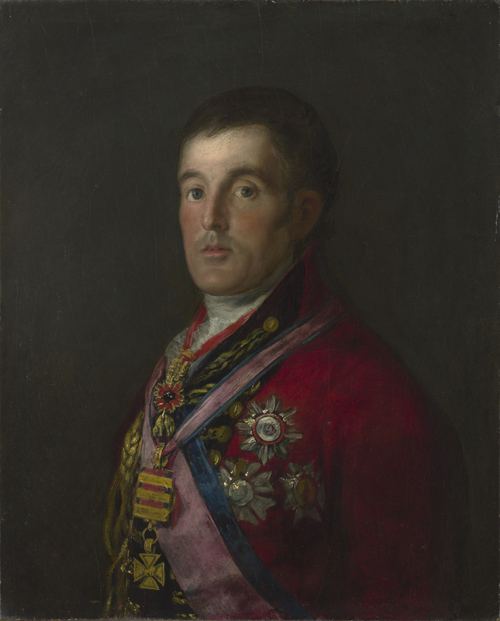 Francisco de Goya (1746–1828). <em>The Duke of Wellington</em>, 1812–14.  Oil on mahogany, 64.3 x 52.4 cm.  Collection: National Gallery, London. © National Gallery, London.