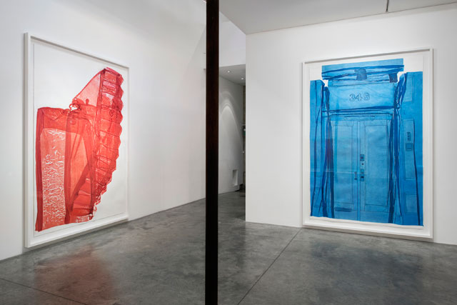 Do Ho Suh. Left: Staircase, Ground Floor, 348 West 22nd Street, New York, NY 10011, USA, 2016. Right: Main Entrance, 348 West 22nd Street, New York, NY 10011, USA, 2016. Installation view, Passage/s, 2017, Victoria Miro Gallery II, London. Courtesy the artist, STPI – Creative Workshop & Gallery, Singapore, and Victoria Miro, London. Photograph: Thierry Bal. © Do Ho Suh.