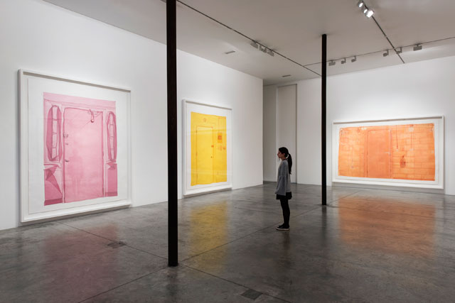 Do Ho Suh. Left to right: Entrance, Ground Floor, 348 22nd Street, New York, 10011, USA, 2015; Entrance, Unit 2, 348 West 22nd Street, New York, NY 10011, USA, 2016; Entrance, Unit G5, Union Wharf, 23 Wenlock road, London, N1 7SB, UK, 2016.