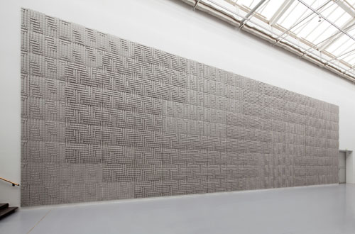 Thomas Bayrle. <i>Carmageddon</i>, 2012. Motorway relief composed of 153 cardboard elements. Courtesy the artist. Commissioned by dOCUMENTA (13) and produced by Dinkhauser Kartonagen GmbH, Innsbruck with the support of Galerie Johann Widauer, Innsbruck, Photograph: Anders Sune Berg.