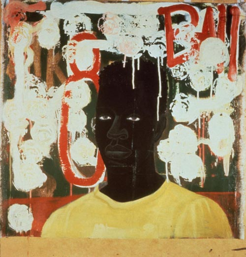 Kerry James Marshall, <em>The Lost Boys: AKA 8 Ball</em>, 1993. © Kerry James Marshall.