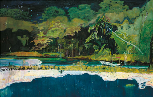 Peter Doig. Grande Riviere, 2001-2002. Oil on canvas, 229 x 358 cm.