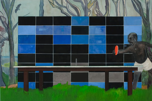 Peter Doig. Ping Pong, 2006-2008. Oil on canvas, 240 x 360 cm.