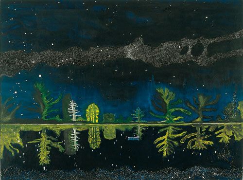 Peter Doig. <em>Milky Way,</em> 1989–90. Oil on canvas, 152 x 203, 5 cm. Artist's collection