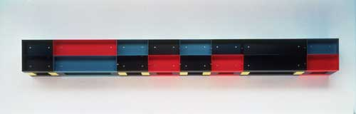 Donald Judd, <em>Untitled</em> 1985. Enamelled aluminium. 30 x 300 x 30 cm. Tate. Presented by Janet Wolfson de Botton 1996. ARTS© 2004 Judd Foundation/ Licensed by VAGA, New York/DACS, London
