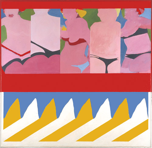 Antony Donaldson. Take 5, 1962. Oil paint and alkyd paint on canvas, 152.8 x 153.3 cm. Courtesy of the artist.
