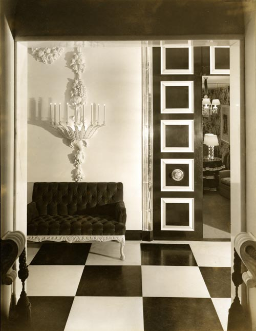 Lobby, 1937. Photographer, Van Nes De Vos. Courtesy Collection of Dorothy Draper & Co. Inc. The Carleton Varney Design Group.