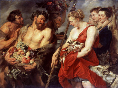 Peter Paul Rubens, <i>Diana Returning from the Hunt</i>, c.1616. Oil 