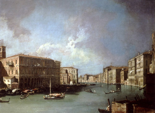 Antonio Canaletto, <i>The Grand Canal, Venice, looking North from Near 