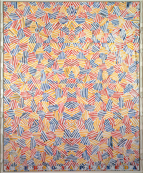 Jasper Johns. Dancers on a Plane, 1979. Collection of the artist. © Jasper Johns/VAGA, New York/DACS,