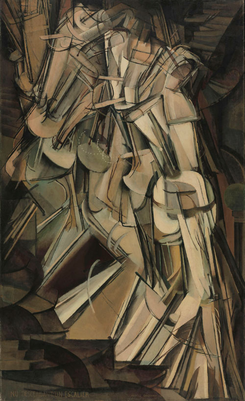 Marcel Duchamp. Nude Descending a Staircase (No. 2), 1912. Philadelphia Museum of Art, The Louise and