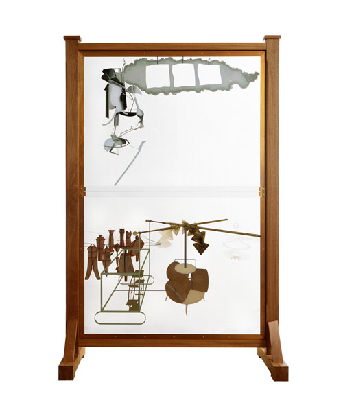 Marcel Duchamp. The Bride Stripped Bare by Her Bachelors, Even (The Large Glass), 1991-92 (replica of