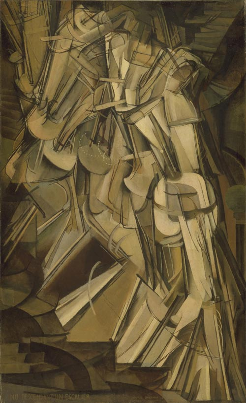 Marcel Duchamp. <em>Nude Descending a Staircase,</em> 1912. Courtesy The Philedelphia Museum © ADAGP, Paris and DACS, London 2008
