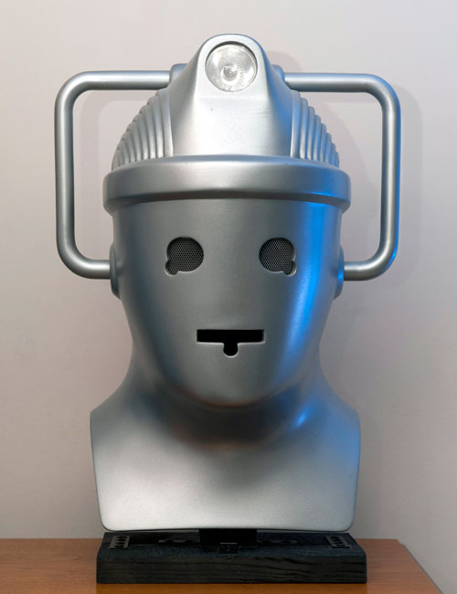 Cyberman Helmet, 1985. Courtesy Chris Balcombe. Photograph: Chris Balcombe.