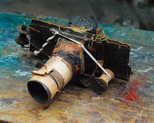 Miroslav Tichy's Homemade Camera. Courtesy Foundation Tichy Ocean. Photograph © Roman Buxbaum, 1987.