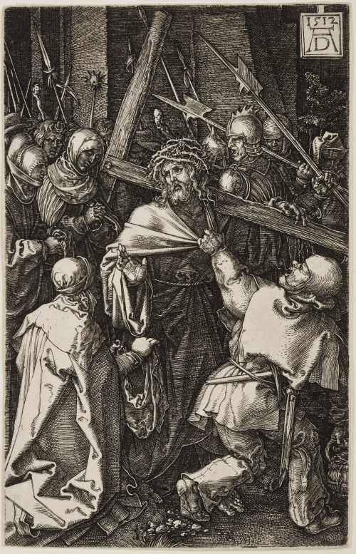Albrecht Dürer. Christ Carrying the Cross, from The Engraved Passion, 1512 Engraving on laid paper. Jansma Collection, Grand Rapids Art Museum, 2007.16j
