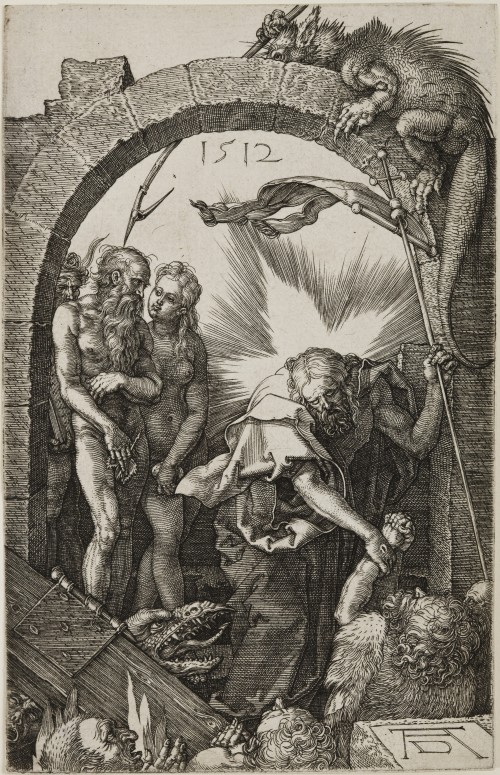 Albrecht Dürer. Christ in Limbo, from The Engraved Passion, 1512 Engraving on laid paper. Jansma Collection, Grand Rapids Art Museum, 2007.16n