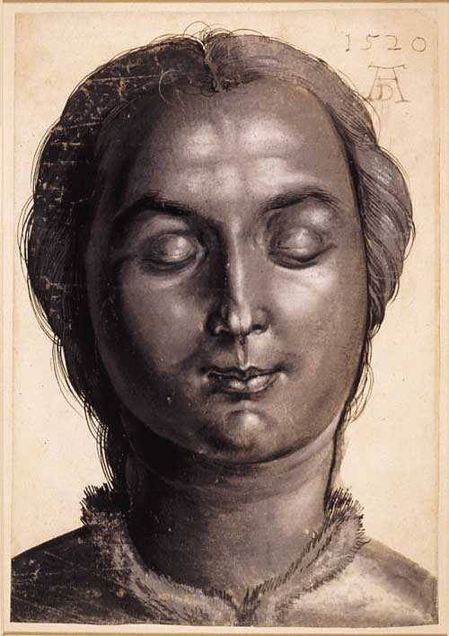 Dürer (1471-1528) <i>Head of a woman</i>, 1520c., drawing. © The 