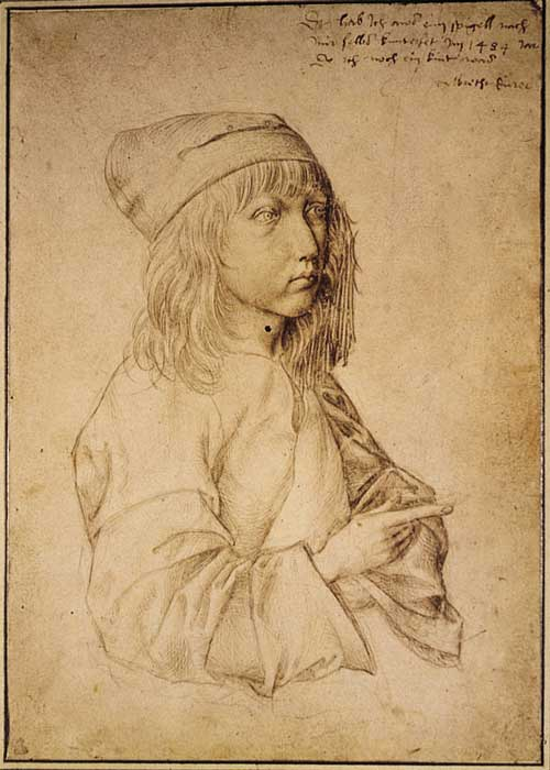 Dürer (1471-1528) <i>Self-portrait at the age of thirteen</i>, 1484, 