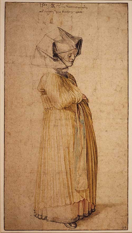 Dürer (1471-1528) <i>A Woman of Nuremberg Dressed </i><i>for Church, 