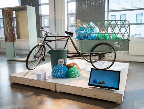 Holy Crap, a system for recycling, at the Graduation Show of the Design Academy Eindhoven. Photograph: Pim van Baarsen /