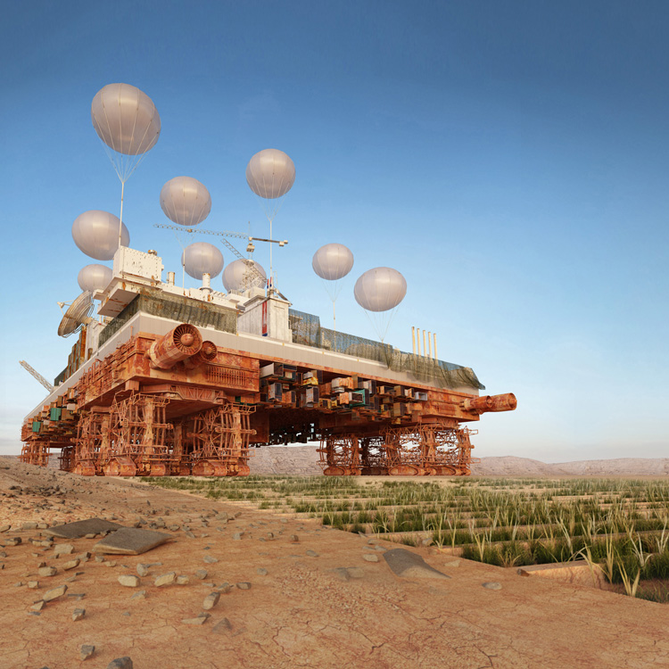Studio Malka Architecture, The Green Machine, 2014. Architecture project. Courtesy of the artist.
