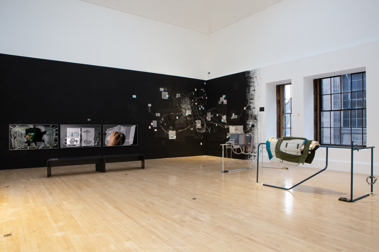 Installation view, The Extended Mind, 2019. Image courtesy Talbot Rice Gallery, The University of Edinburgh.