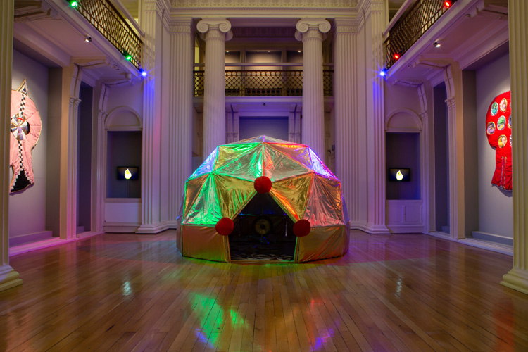 Angelo Plessas. Karma Dome, 2019. Installation view, The Extended Mind, 2019. Image courtesy Talbot Rice Gallery, The University of Edinburgh.