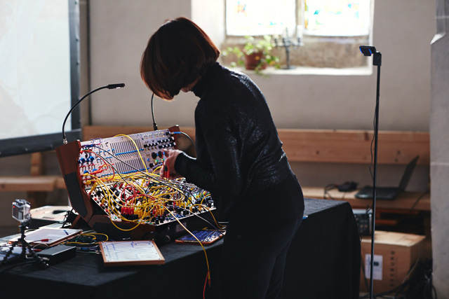 Suzanne Ciani playing Improvisations on Five Sequences, 2019. Photo: Veronica Simpson.