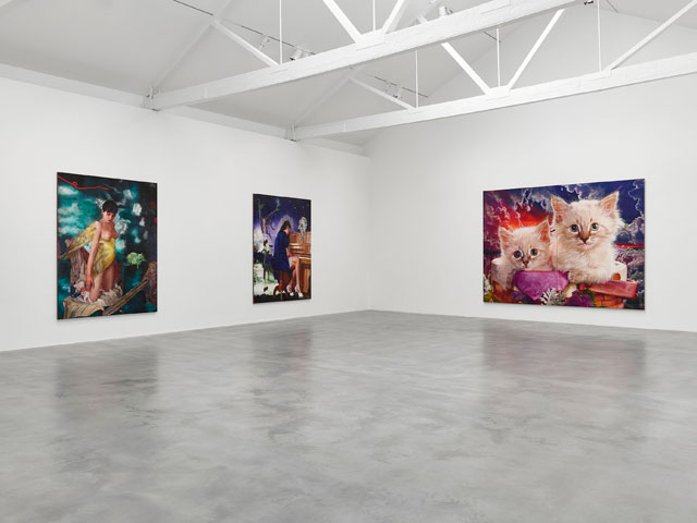 Martin Eder, Parasites at Newport Street Gallery, installation view. Photo by Prudence Cumming Associates.