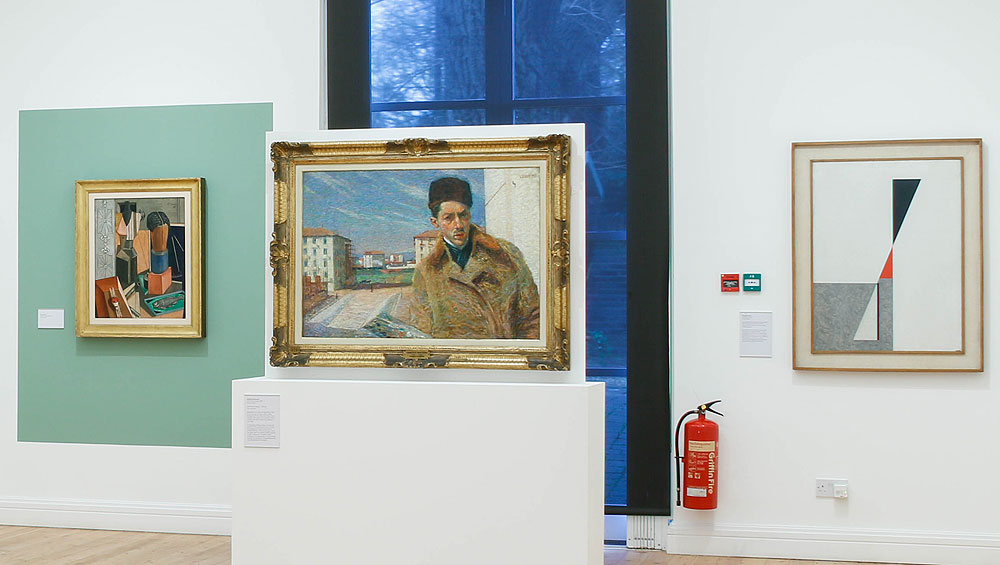 Teeming with hidden treasures, this exhibition is a compact survey of key movements and artists in Italian modern art in the early 20th century, a febrile moment in the country's artistic and political history