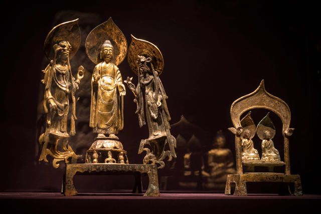 Encountering the Buddha: Art and Practice Across Asia. Gallery view, Arthur M. Sackler Gallery at the Smithsonian Institution, Washington DC. Image courtesy of Freer | Sackler staff.