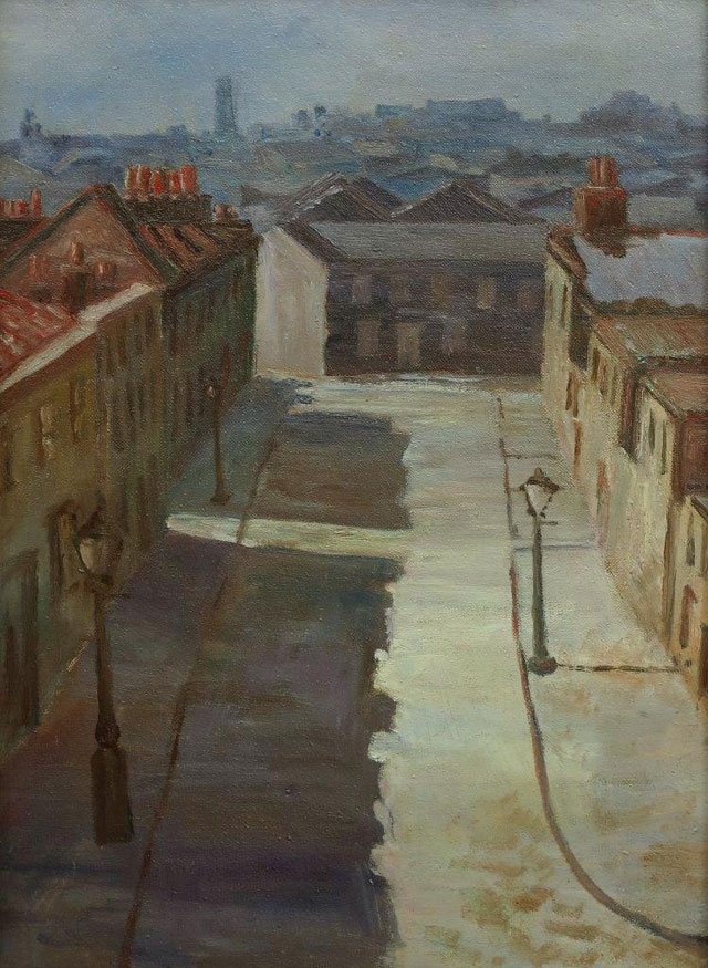 George Board. N E Bethnal Green, 1928. Oil on canvas, 27.5 x 38 cm. Private collection, © the artist's estate.