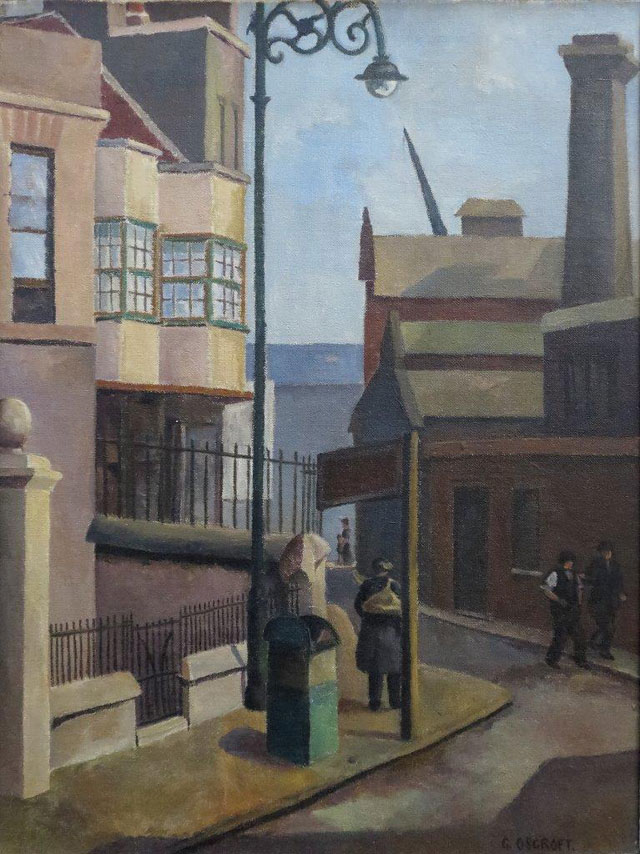 Grace Oscroft. Old Houses, Bow, 1934. Oil on canvas, 35.5 x 46 cm. Private collection, © the artist's estate.