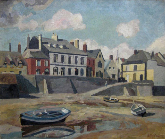 John Cooper. Appledore, 1935. Oil on canvas, 51 x 61 cm. Private collection, © the artist's estate.