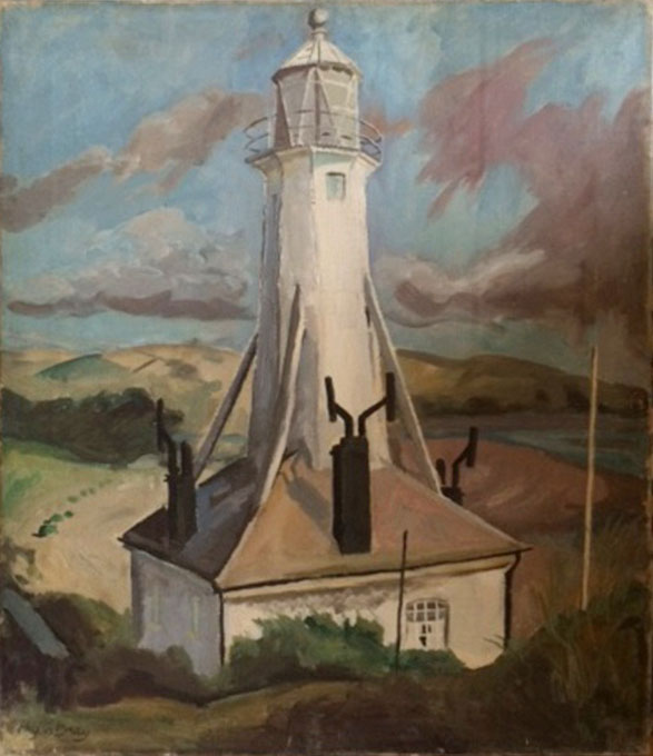 Phyllis Bray. Braunton Lighthouse, 1935. Oil on canvas, 46 x 61 cm. Private collection, © the artist's estate.