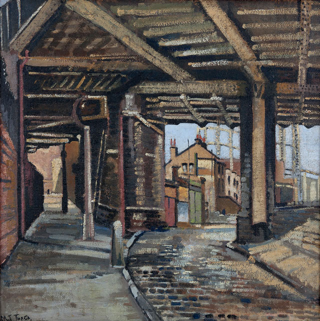 Albert Turpin (1900–1964). The Arches, Cambridge Heath Road, date unknown. Courtesy the artist's family © A.E.Turpin Estate, 2017.